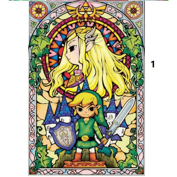 zelda diamond painting kit full square/round drill animal figure wall decor children gift toy cartoon wall art 30x40cm
