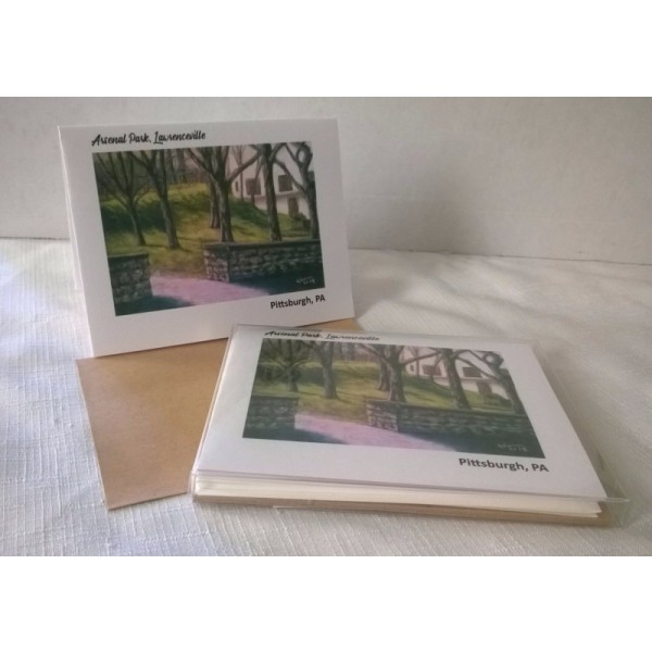 Arsenal Park, Lawrenceville, Pittsburgh -Color Blank Notecards Boxed set of 5