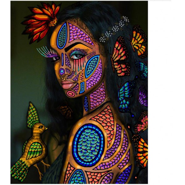 african women 5d diamond painting full round drill picture mosaic drawing diamond dots poster beauty poster on canvs 55x70cm
