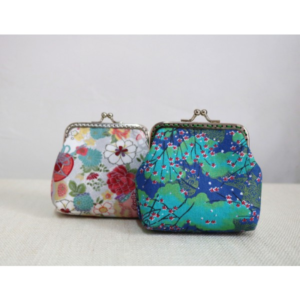 8.5cm Metal Frame Coin Purse/2 pcs Change Purse/Coin Wallet/Travel Gift/Gift for Woman