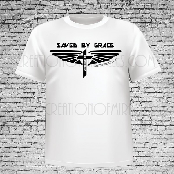 Saved By Grace White T-Shirt
