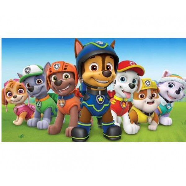 cartoon diamond painting full square drill wall art paw patrol home deocr kids gift toy 30x40cm
