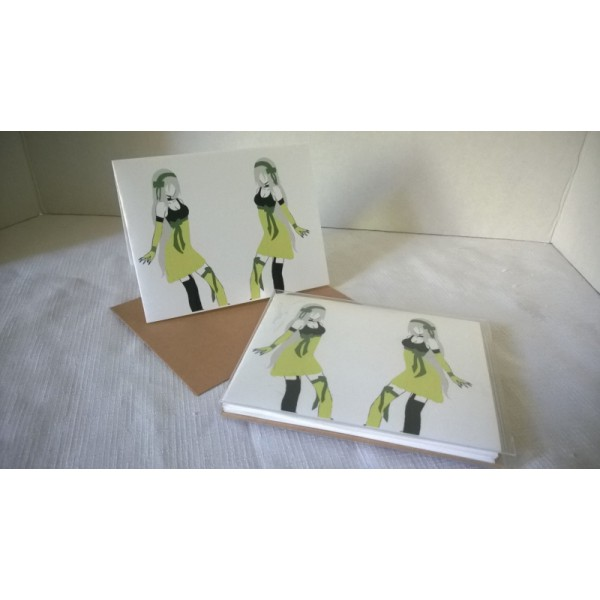 Idols- Color Digital Art Pop Culture Boxed Set of 5 Blank Notecards w/Envelopes