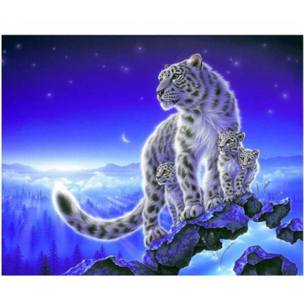 full drill diamond painting kit tiger faimily wall art mother and baby wall decor picture diamond dotz paint on canvas home decal 40cmx50cm