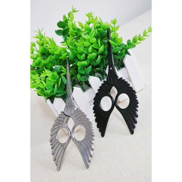 Wing Style Bird Scissors Stitching Tools Swan Sewing Embroidery Scissors - Black