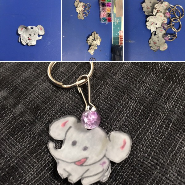 Elle the Elephant Alzheimer's Awareness Keychains
