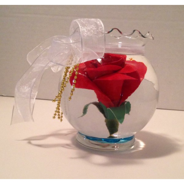 Floating Forever Rose in Water Floral Arrangement Valentine's Day