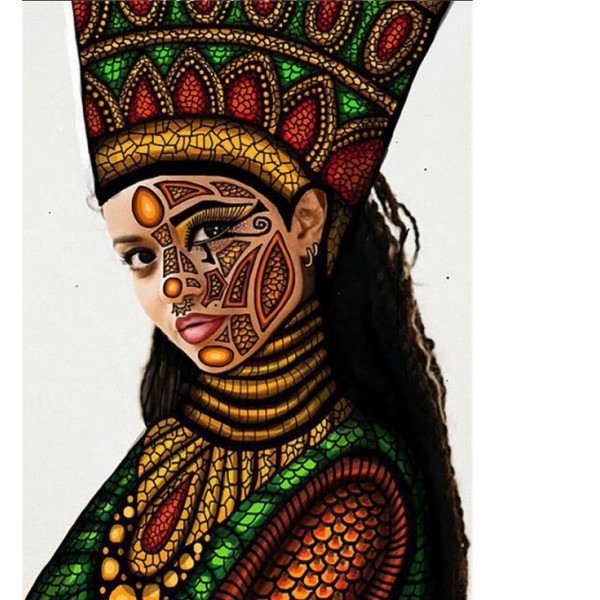 african women 5d diamond painting full round drill picture mosaic drawing diamond dots poster beauty poster on canvs 50x60cm