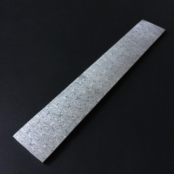 200x30x3mm Rose Type Mokume Gane Stainless Steel Damascus Steel Billet Knife Handle Scale