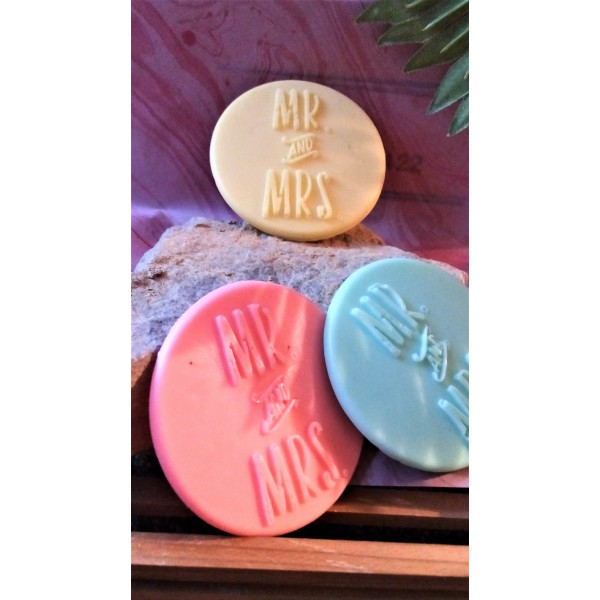 Mr and Mrs wedding soaps