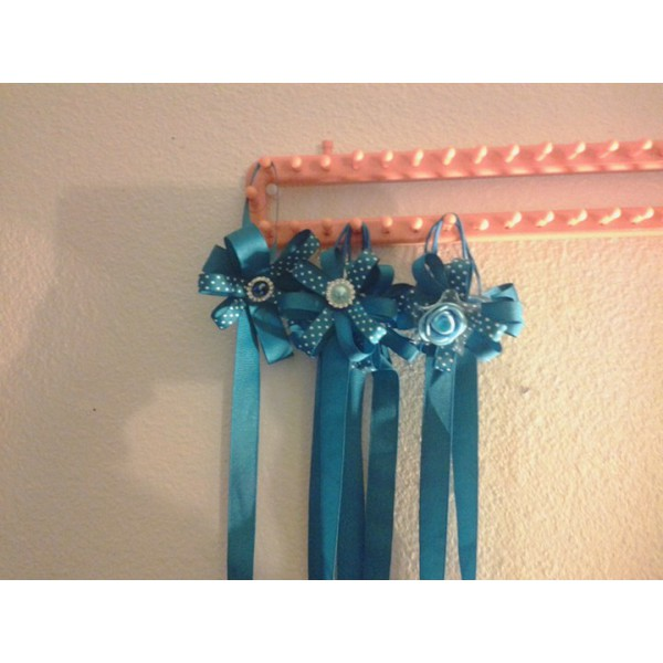 Teal Hair Bow Holder