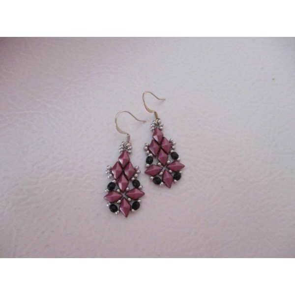 Diamond weave earrings