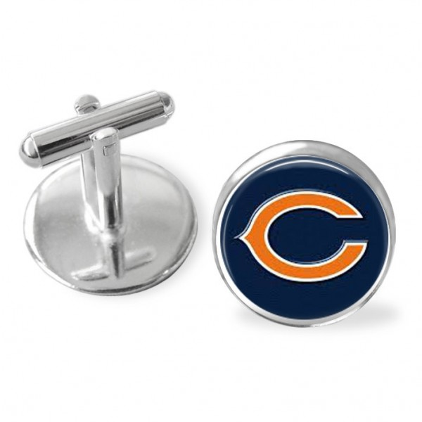 Sports theme cuff links Chicago Bears football, Gifts for guys, r,wedding keepsake, groomsmen gifts, USA