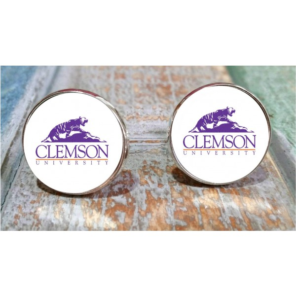 Gifts for men, College cuff links, Clemson Tigers, ClemsonUniversity inspired cufflinks. SEC sports, anniversary, groom gift,business gift