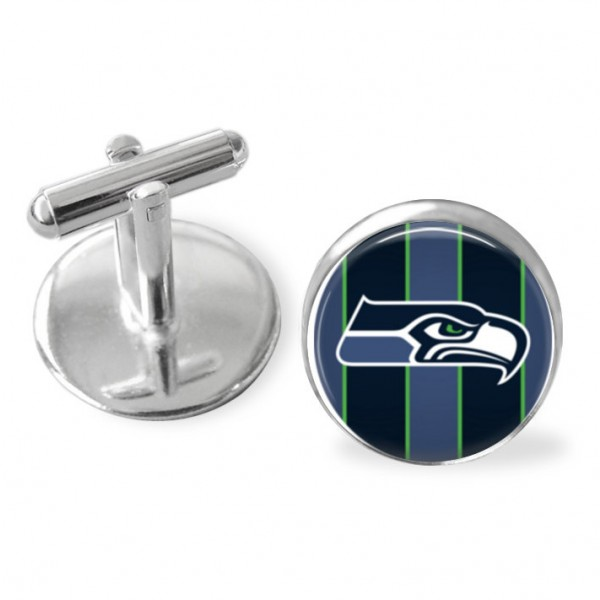 Seattle Seahawks cuff links, football, playoffs, Hawks , groomsmangift, NFL football accessories, sporty gift