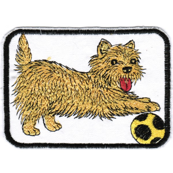 Iron on Patches Yorkies, Yorkshire Terrier Dog Lover Patch Machine Embroidered Jean Jackets