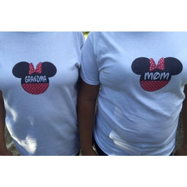 0d3191603 T-shirts, Iron-on, Family, Mom, Dad, Daughter, Son, Disney, Minnie ...