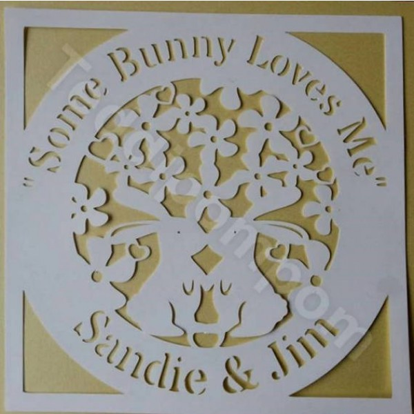 Some Bunny Loves Me SVG Easter Spring Papercutting, Wedding, Cricut & Silhouette Cameo cut file, Scrapbooking, Card Making,Digital Upload