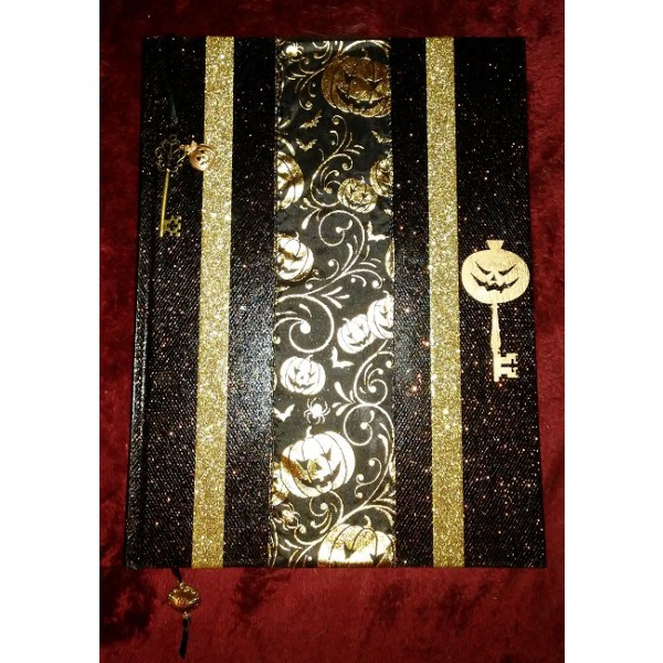 Halloween Pumpkin Journal/Sketchbook/Scrapbook (Lg. Gold)