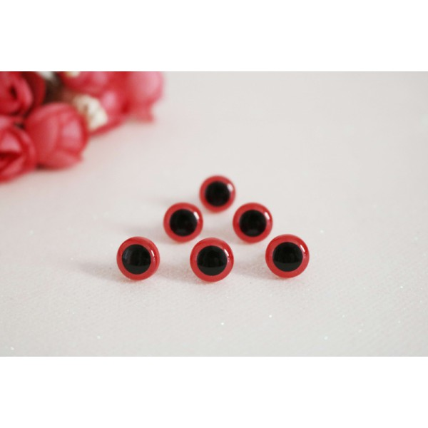 10mm Red Amigurumi Doll Plush Animal Toys Plastic Safety Eyes