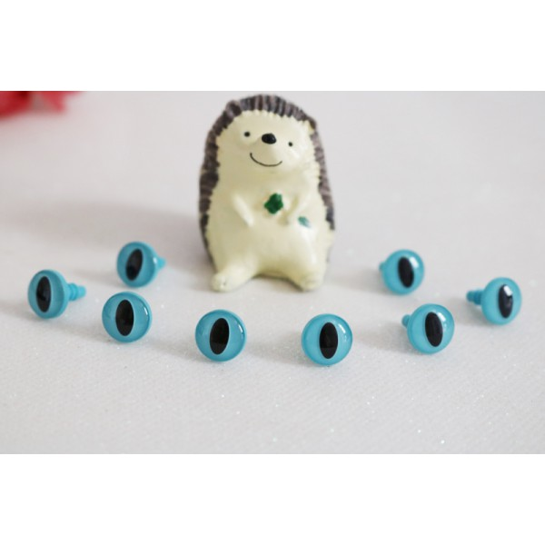 10 mm Blue Amigurumi Doll Plush Animal Toys Plastic Safety Cat Eyes