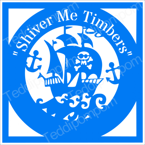 Shiver Me Timbers Pirate Ship Papercut template, SVG Cutting File, Cricut & Silhouette Cameo, Scrapbooking, Card Making,Digital Upload