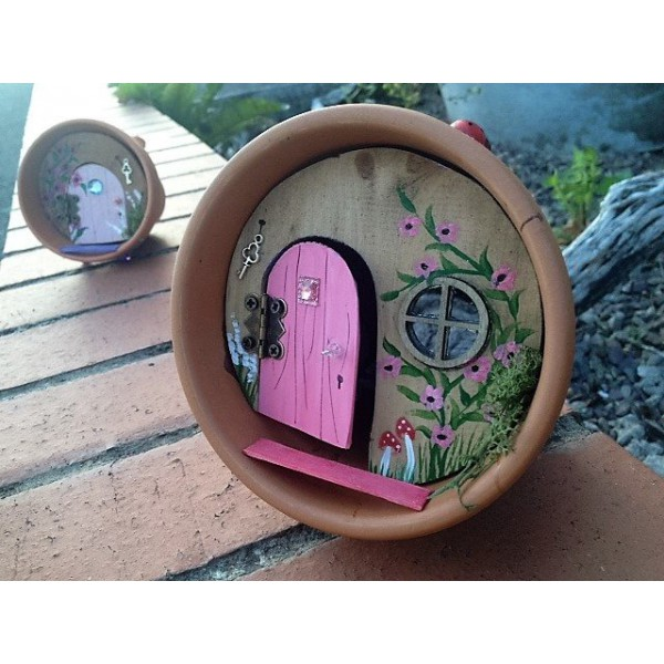 Flowerpot fairy house, flowerpot, garden decor, fairy house, fairy door,