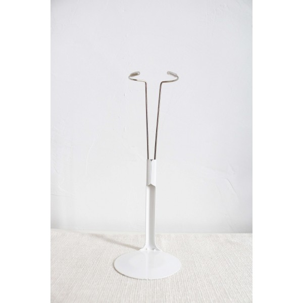 4.72-7.87 inches Stand Doll Accessories Car Fix Stand Metal Doll Display Stand - White