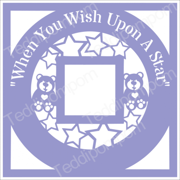When You Wish Upon A Star Baby Scan Photo Papercut Frame, cricut silhouette svg Papercutting, Card Making,Digital Upload