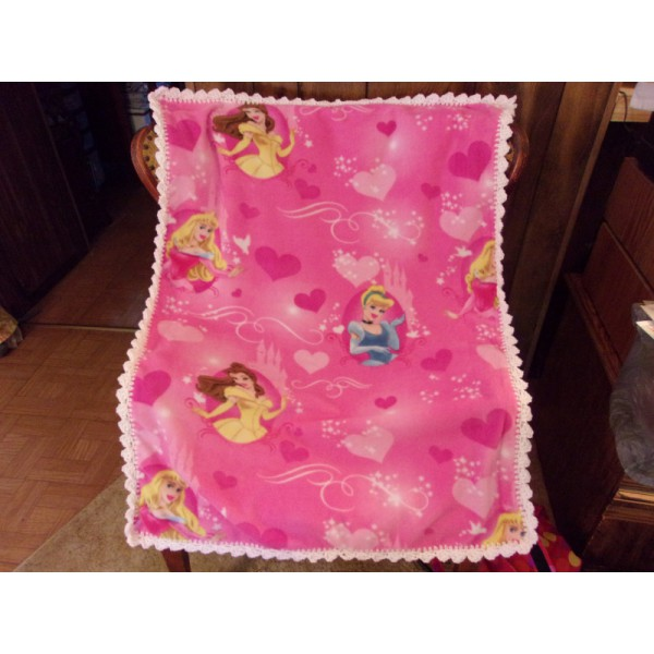 Princesses Three Baby Fleece Blankets with Crochet Edging Car Seat Cover Crib Cover Toddler Blanket