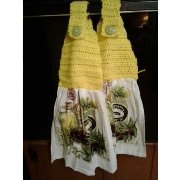 Crochet-top Dishtowels