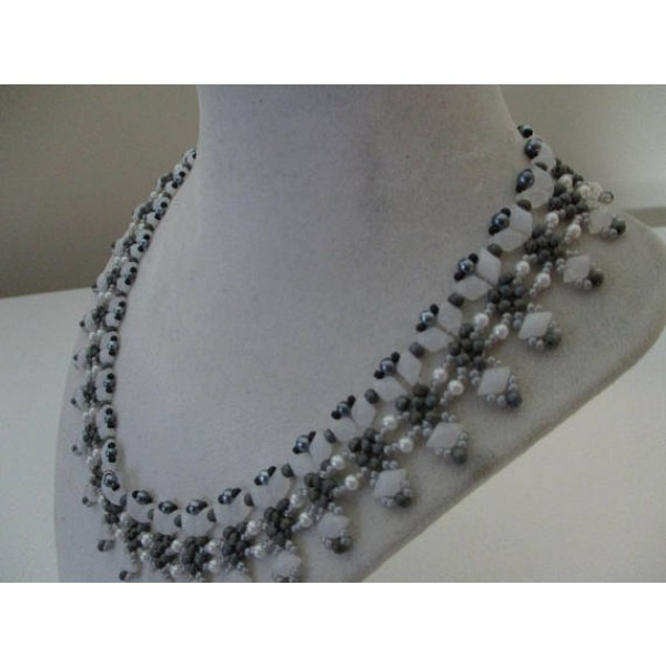 Diamond duo necklace