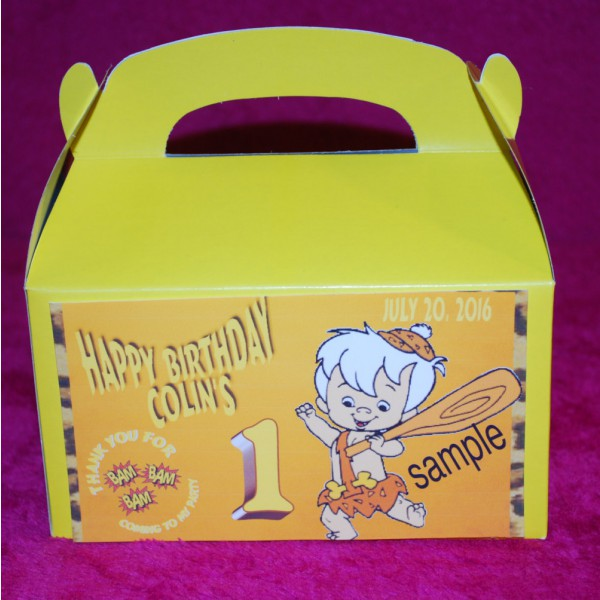 Qty 4 Bam Bam Party Candy Favor Goody Boxes