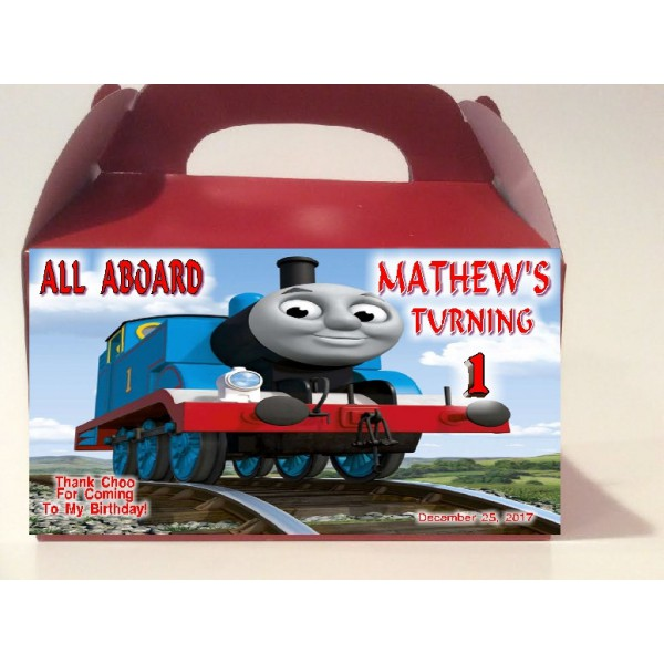 Qty 4 Thomas The Train, Goody Treat Boxes, Boys, Girls Birthday