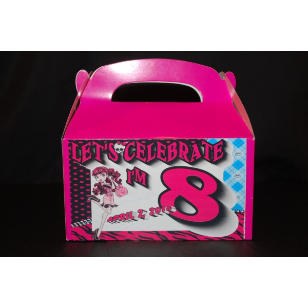 Qty 4 Monster's High Goody Box Party Favor