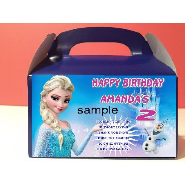 Qty 4 Frozen Party Candy Favor Goody Boxes