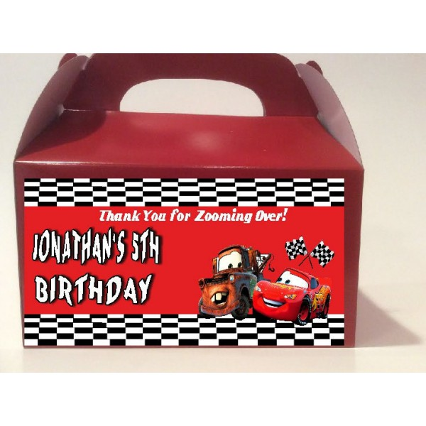 Qty 4 Disney Cars Party Candy Favor Goody Boxes