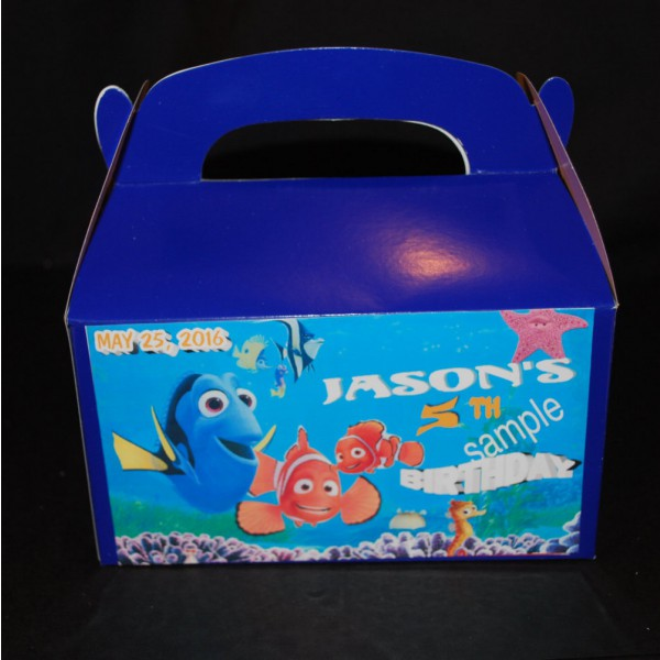 Qty 4 Finding Nemo Party Personalized Goody Favor Candy Box