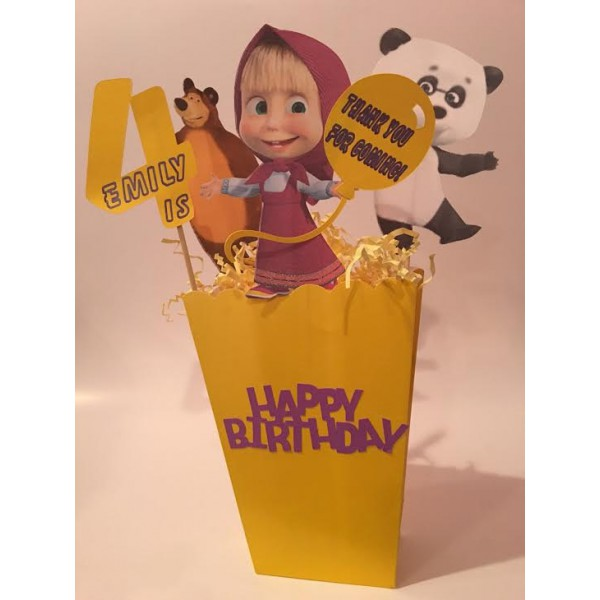Centerpieces, Masha & the Bear, Elena of Avalor, LittleMermaid, Batman, Birthdays, Celebrations, Kids
