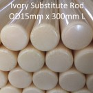 ARVORIN - Imitation Ivory Substitute Rod Bar Scale Block Blank Material OD15mm x 300mm