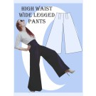 Really Easy high waist wide legged pants sewing pattern