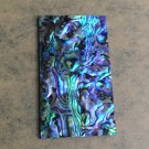 "Thick 1.5mm(0.059"") Natural Paua Abalone Flat Shell Blank Scale Sheet Slab Inlay Material - 33mm x 58mm x 1.5mm"