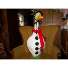 Snowman Geese Goose Outfit Crochet Lawn Goose Clothes Garden Statue Decor Outdoor Decor