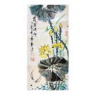 Original artwork, Traditional Chinese painting, The fun of lotus pond