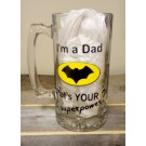 I'm a Dad What's Your Superpower - Batman - Beer Mug