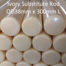 ARVORIN - Imitation Resin Based Ivory Substitute Rod Bar Block Scale Blank Material - OD38mm x 300mm