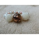 Cooper and Pearl Beaded Bracelet