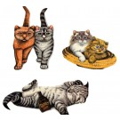 3 Cat Patches, Iron On Patch, Sew On Patch, Cute Cat Patches, Patches For Jackets
