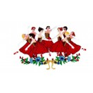 Ballerina Applique Patch Embroidered Applique For Jacket Iron onApplique Sew On Patch