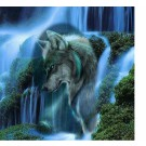 5d dimaond painting kit full square painting wolf wall art waterfall animal wall decor  picture home decal 30cmx30cm